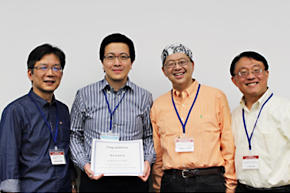 Winners(Dr. Yen-Lin Liu氏Taipei Medical University Hospital, Dr. Boku, Dr. Ueno and Dr. Lee)